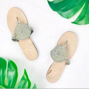 Jack Rogers Georgica green sandals thongs